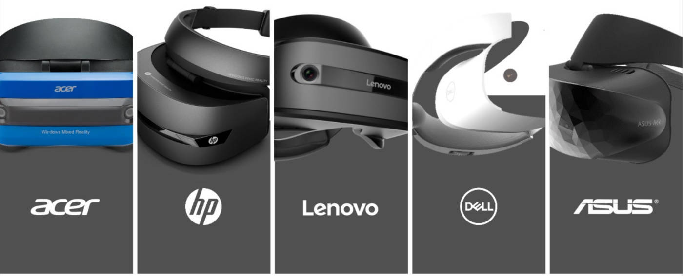 The Windows Mixed Reality range (without Samsung Odyssey)