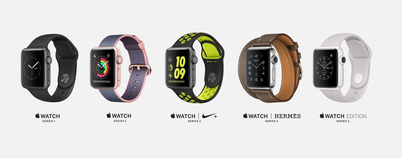 Варианты Apple Watch Series 2