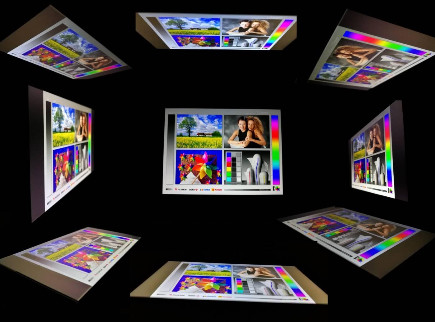 Экран под разными углами