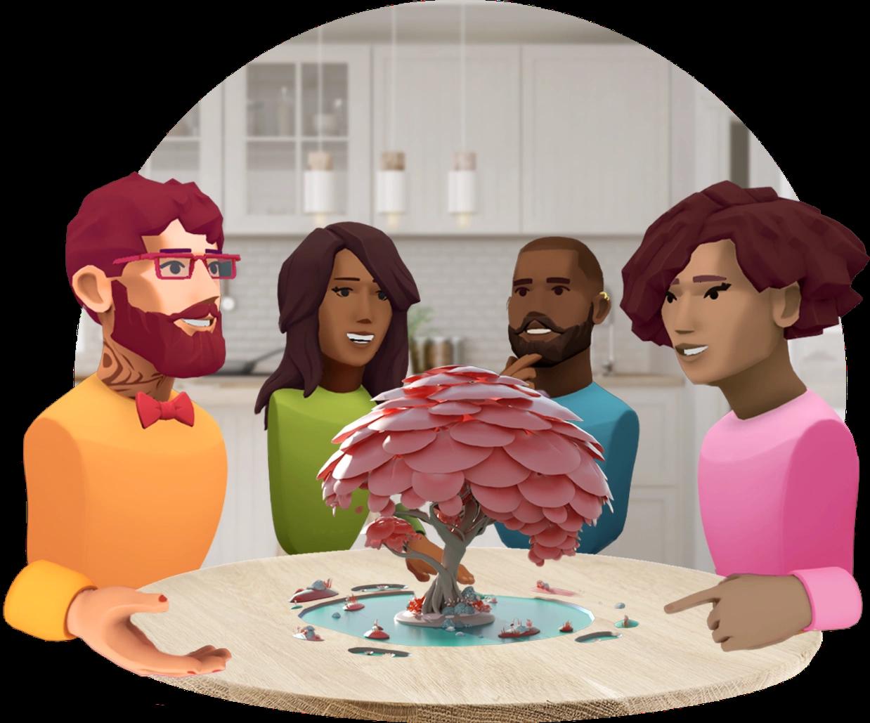 В Avatar Chat используются виртуальные образы других людей