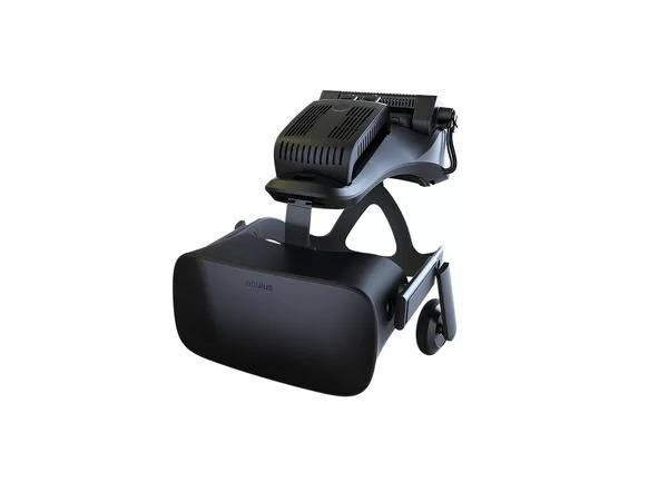 TPCast module on Oculus Rift