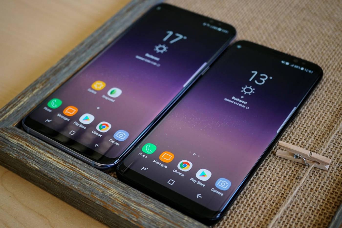 Сравнение размеров Samsung Galaxy S9 и S9+
